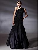 billiga Balklänningar-Trumpet / sjöjungfru Enaxlad Golvlång Taft Inspirerad av Grammy / Elegant / Kändis Stil Bal / Formell kväll Klänning 2020 med Sidodraperad