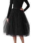 ราคาถูก ชุดชั้นในสำหรับงานแต่งงาน-งานแต่งงาน Halloween งานเลี้ยงเจ้าสาว พรรคและเย็น ซับใน เส้นใยสังเคราะห์ Tulle ชายยาวระดับเข่า A-Line Slip Ball Gown Slip กับ