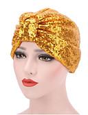 ราคาถูก หมวกสตรี-สำหรับผู้หญิง สีพื้น ฝ้าย ลายเลื่อม,หมวก ดอกไม้-หมวกปีกกว้าง ฤดูใบไม้ผลิ & ฤดูใบไม้ร่วง ฤดูหนาว สีดำ สีแดงชมพู สีทอง