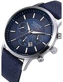 ราคาถูก นาฬิกาข้อมือหรูหรา-สำหรับผู้ชาย นาฬิกาแนวสปอร์ต สายการบิน นาฬิกาอิเล็กทรอนิกส์ (Quartz) หนัง หนังแท้ ดำ / ฟ้า / น้ำตาล กันน้ำ ปฏิทิน Creative ระบบอนาล็อก ความหรูหรา ไม่เป็นทางการ แฟชั่น สง่างาม - สีดำ สีน้ำตาล ฟ้า