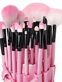 billige Sminkebørstesett-Profesjonell Makeup børster Børstesett 32pcs Høy kvalitet Sminkebørster til Øyenskygger Concealer Pudder Rødme Makeup Bags Foundationbørste Leppebørste