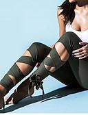 Χαμηλού Κόστους Κολάν-Γυναικεία Sexy Αθλητικό Γκέτα - Μονόχρωμο, Φιόγκος Μεσαία Μέση Πράσινο του τριφυλλιού Μαύρο Φούξια M L XL / Πολύ στενό
