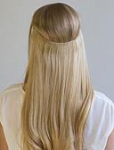billiga Brudklänningar-Flip In Människohår förlängningar Klassisk Remy-hår Hårförlängningar av äkta hår Halo-förlängningar Dam Mellanbrun