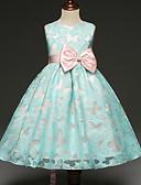Χαμηλού Κόστους Λουλουδάτα φορέματα για κορίτσια-Παιδιά Κοριτσίστικα Πάρτι Πεταλούδα Φιόγκος Αμάνικο Φόρεμα Πράσινο του τριφυλλιού