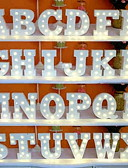 billiga Slipsar och flugor-led brevljus tecken 26 bokstäver alfabetet lyser bokstäver tecken för nattljus bröllop födelsedagsfest batteridrivna jullampa hem bar dekoration
