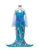 ราคาถูก คอสเพลย์ชุดว่ายน้ำ-หางนางเงือก Aqua Princess หนึ่งชิ้น ชุดเดรส สำหรับเด็ก เด็กผู้หญิง วันคริสต์มาส วันฮาโลวีน เทศกาลคานาวาล Festival / Holiday Elastane Tactel น้ำเงินโอเชี่ยน ชุดเทศกาลคานาวาว Vintage