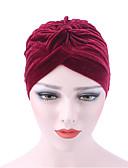 ราคาถูก หมวกสตรี-สำหรับผู้หญิง สีพื้น ฝ้าย Pure Color ลายพิมพ์,หมวก-หมวกปีกกว้าง ฤดูใบไม้ผลิ & ฤดูใบไม้ร่วง ฤดูหนาว สีดำ สีน้ำเงินกรมท่า ไวน์