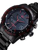Χαμηλού Κόστους Ψηφιακά Ρολόγια-ASJ Ανδρικά Ρολόι Καρπού Ψηφιακό ρολόι Ανοξείδωτο Ατσάλι Μαύρο 30 m Ανθεκτικό στο Νερό Συναγερμός Ημερολόγιο Αναλογικό-Ψηφιακό Πολυτέλεια - Μαύρο Κόκκινο Μπλε Δύο χρόνια Διάρκεια Ζωής Μπαταρίας / LCD