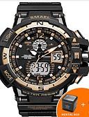 ราคาถูก นาฬิกาข้อมือสายหนัง-SMAEL สำหรับผู้ชาย นาฬิกาดิจิตอล นาฬิกา Navy Seal ญี่ปุ่น ยางทำจากซิลิคอน ดำ 50 m กันน้ำ ปฏิทิน Creative อะนาล็อก-ดิจิตอล ความหรูหรา ไม่เป็นทางการ กำไล สง่างาม - สีเงิน สีเขียว ฟ้า / เรืองแสง