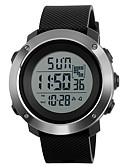ราคาถูก นาฬิกาดิจิทัล-SKMEI สำหรับผู้ชาย นาฬิกาแนวสปอร์ต นาฬิกาทหาร นาฬิกาข้อมือ ดิจิตอล PU Leather ดำ / เขียว / เทา 50 m กันน้ำ นาฬิกาปลุก ปฏิทิน ดิจิตอล เสน่ห์ - สีดำ สีเทา สีเขียว สองปี อายุการใช้งานแบตเตอรี่ / สแตนเลส