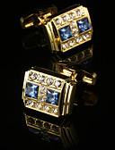 Χαμηλού Κόστους Αντρικά Πόλο-Geometric Shape Χρυσαφί Butoni Δώρο Κουτιά & Τσάντες / Μοντέρνα Ανδρικά Κοστούμια Κοσμήματα Για