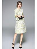 Χαμηλού Κόστους Zentai-Γυναικεία T-shirt - Μονόχρωμο / Φλοράλ Φούστα
