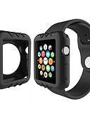 זול מקרה Smartwatch-עבור סדרת שעונים תפוח 1 סיליקון צבעוני במקרה לצפות כיסוי 38mm 42mm