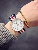 זול שעונים קוורץ-בגדי ריקוד נשים שעון יד קווארץ ניילון שחור / חום אנלוגי נשים פאר וינטאג' יום יומי אופנתי - ורוד לבן / אדום צי / אדום / לבן