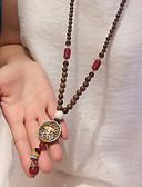 Χαμηλού Κόστους Quartz Ρολόγια-Ανδρικά Γυναικεία Κρεμαστά Κολιέ Εξατομικευόμενο Μοντέρνα Ξύλο Ουράνιο Τόξο Κολιέ Κοσμήματα Για Δώρο Καθημερινά