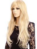 Χαμηλού Κόστους Ολόσωμο-Συνθετικές Περούκες Ίσιο Ίσια Περούκα Ξανθό Μακρύ Ξανθό Συνθετικά μαλλιά Γυναικεία Ξανθό
