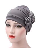 ราคาถูก หมวกสตรี-สำหรับผู้หญิง สีพื้น ฝ้าย รอยจีบ,ซึ่งทำงานอยู่-หมวกปีกกว้าง สีน้ำเงินกรมท่า สีเทา สีกากี / ผ้า