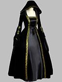 povoljno Lolita haljine-Kostim Crn Vintage Cosplay Veći konfekcijski brojevi Prilagođeno