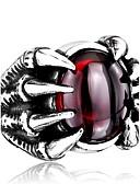 billiga Frackur-Herr Ring Svart Röd Rostfritt stål Titanstål Personlig Mode Dagligen Casual Smycken Magi