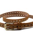 billige Trendy belter-Dame Dress Belt Smalt belte Ensfarget Legering