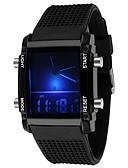 Χαμηλού Κόστους Πολυτελή Ρολόγια-Ανδρικά κυρίες Αθλητικό Ρολόι Στρατιωτικό Ρολόι Ψηφιακό ρολόι Χαλαζίας σιλικόνη καουτσούκ Μαύρο / Λευκή 30 m Ανθεκτικό στο Νερό Ημερολόγιο Χρονογράφος Αναλογικό-Ψηφιακό Καθημερινό - Μαύρο Λευκό / LED