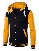 ราคาถูก เสื้อฮู้ดและเสื้อกันหนาว-สำหรับผู้ชาย ฮู้ด แขนยาว ซึ่งทำงานอยู่ Hoodie ลายบล็อคสี / ฤดูหนาว