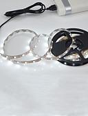 billige Smartwatch Bands-2m Fleksible LED-lysstriper 120 LED 2835 SMD Varm hvit / Hvit Kuttbar / Selvklebende 5 V 1pc