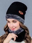 ราคาถูก หมวกสตรี-สำหรับผู้หญิง สีพื้น ฝ้ายผสม ฝ้าย / ไนลอนด้วยคำแนะนำของการยืด ผ้าวูลผสม Pure Color,ฮารด์แวร์-หมวกหย่อน ตก ฤดูหนาว สีน้ำเงินกรมท่า ไวน์ สีน้ำตาลอ่อน