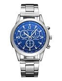 ราคาถูก นาฬิกาข้อมือสแตนเลส-สำหรับผู้ชาย นาฬิกาแนวสปอร์ต สายการบิน นาฬิกาอิเล็กทรอนิกส์ (Quartz) สแตนเลส เงิน กันน้ำ Creative ระบบอนาล็อก เสน่ห์ คลาสสิก ไม่เป็นทางการ แฟชั่น สง่างาม - ขาว ฟ้า หนึ่งปี อายุการใช้งานแบตเตอรี่