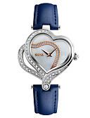 povoljno Kvarcni satovi-SKMEI Žene Ručni satovi s mehanizmom za navijanje Diamond Watch Japanski Kvarc Koža Crna / Bijela / Plava 30 m Vodootpornost Kreativan Cool Analog dame Luksuz Heart Shape Ležerne prilike Moda - Crn