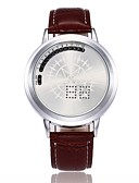 Χαμηλού Κόστους Αθλητικό Ρολόι-Ανδρικά Αθλητικό Ρολόι Ψηφιακό ρολόι Ψηφιακή Συνθετικό δέρμα με επένδυση 30 m Δημιουργικό LED Ψηφιακό Καθημερινό Μοναδικό Watch Creative - Μαύρο Καφέ