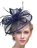 ราคาถูก เมกซิเดรส-สำหรับผู้หญิง Kentucky Derby หมวก ตาข่าย แฟชั่น อะคริลิค ขนนก ปาร์ตี้ - สีพื้น