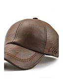 ราคาถูก หมวกสตรี-สำหรับผู้ชาย สีพื้น PU ปัก,ซึ่งทำงานอยู่ วันหยุด กันน้ำ-หมวกเบสบอล ดวงอาทิตย์หมวก สีน้ำตาล สีดำ