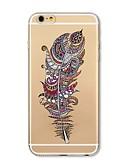 Χαμηλού Κόστους Αξεσουάρ Samsung-tok Για Apple iPhone X / iPhone 8 Plus / iPhone 8 Διαφανής / Με σχέδια Πίσω Κάλυμμα Φτερά Μαλακή TPU