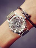 ราคาถูก นาฬิกาข้อมือสแตนเลส-สำหรับผู้ชาย นาฬิกาเห็นกลไกจักรกล นาฬิกาข้อมือ นาฬิกาทอง นาฬิกาอิเล็กทรอนิกส์ (Quartz) สแตนเลส เงิน / ทอง นาฬิกาใส่ลำลอง ระบบอนาล็อก เสน่ห์ - สีทอง สีเงิน