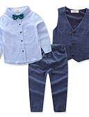povoljno Kompletići za dječake-Dijete koje je tek prohodalo Dječaci Aktivan Party Dnevno Jednobojni Dugih rukava Regularna Normalne dužine Pamuk Komplet odjeće Plava