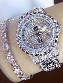 povoljno Kvarcni satovi-Žene dame Luxury Watches Diamond Watch Japanski Kvarc Nehrđajući čelik Srebro / Zlatna 30 m Casual sat Analog Šarm Moda Bling Bling - Zlato Pink