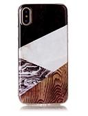 Χαμηλού Κόστους Αξεσουάρ Samsung-tok Για Apple iPhone X / iPhone 8 Plus / iPhone 8 IMD / Με σχέδια Πίσω Κάλυμμα Νερά ξύλου / Μάρμαρο Μαλακή TPU