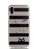 Χαμηλού Κόστους Αξεσουάρ Samsung-tok Για Apple iPhone X / iPhone 8 Plus / iPhone 8 Διαφανής / Με σχέδια Πίσω Κάλυμμα Γραμμές / Κύματα / Γάτα Μαλακή TPU