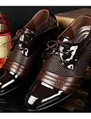 olcso Férfi zakók és öltönyök-Férfi Kényelmes cipők PU Tavasz / Ősz Brit Félcipők Fekete / Barna / EU40