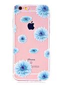 Χαμηλού Κόστους Αξεσουάρ Samsung-tok Για Apple iPhone X / iPhone 8 Plus / iPhone 8 Εξαιρετικά λεπτή / Διαφανής / Με σχέδια Πίσω Κάλυμμα Λουλούδι Μαλακή TPU