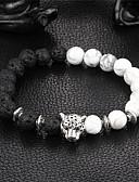 billige Eksotisk herreundertøy-Dame Onyks Perlearmbånd Armbånd Yin Yang Natur Stein Armbånd Smykker Svart Til Fest Gave