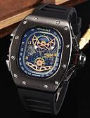 ราคาถูก นาฬิกากีฬา-สำหรับผู้ชาย นาฬิกาข้อมือ นาฬิกาอิเล็กทรอนิกส์ (Quartz) ยางทำจากซิลิคอน ดำ กันน้ำ ปฏิทิน โครโนกราฟ ระบบอนาล็อก ความหรูหรา คลาสสิก ไม่เป็นทางการ แฟชั่น แฟนซี - สีดำ สีเงิน Rose Gold / สองปี / สแตนเลส