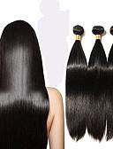 povoljno Stare svjetske nošnje-6 paketića Peruanska kosa Ravan kroj Remy kosa Ljudske kose plete 12-28 inch Isprepliće ljudske kose Proširenja ljudske kose / 10A