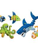 Χαμηλού Κόστους Αξεσουάρ Samsung-Τουβλάκια 5 pcs Δεινόσαυρος Ψάρια Shark συμβατό Legoing Φτιάξτο Μόνος Σου Σύνολα Mix & Match Σετ Παιχνίδια Δώρο