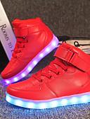 זול סטים של ביגוד לבנות-בנים נוחות / נעליים זוהרות חומרים בהתאמה אישית / דמוי עור נעלי ספורט ילדים קטנים (4-7) / ילדים גדולים (7 שנים +) שרוכים / סקוטש / LED אדום / כחול / ורד מאובק סתיו / חורף / TR