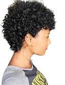 Χαμηλού Κόστους Quartz Ρολόγια-Ανθρώπινη Τρίχα Περούκα Κοντό Σγουρά Jerry curl Σύντομα Hairstyles 2019 Σγουρά Σγουρό περμανάντ Περούκα αφροαμερικανικό στυλ Μηχανοποίητο Γυναικεία Μαύρο 8 Ίντσες