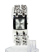 baratos Relógios de Pulseira-Mulheres Relógio de Moda Bracele Relógio Relógio Quadrado Japanês Quartzo Aço Inoxidável Prata 30 m Relógio Casual Analógico senhoras Elegante - Prata Um ano Ciclo de Vida da Bateria
