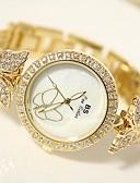 povoljno Modni satovi-Žene Ručni satovi s mehanizmom za navijanje Diamond Watch Zlatni sat Japanski Nehrđajući čelik Srebro / Zlatna 30 m Analog dame - Zlato Pink
