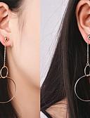 ราคาถูก บรา-สำหรับผู้หญิง ที่ห้อยสิ่งของ ต่างหูห้อย ส่วนบุคคล รูปเลขาคณิต รูปแบบแขวน Euramerican ต่างหู เครื่องประดับ สีทอง / Silvery สำหรับ ทุกวัน ที่มา